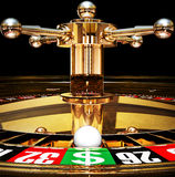 Jackpot. High resolution rendering of roulette Stock Images