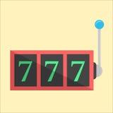 Jackpot icon in flat style. Vector illustration Stock Photos