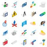 Jackpot icons set, isometric style. Jackpot icons set. Isometric set of 25 jackpot vector icons for web isolated on white background Stock Photo