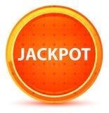 Jackpot Natural Orange Round Button. Jackpot Isolated on Natural Orange Round Button vector illustration
