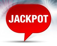 Jackpot Red Bubble Background. Jackpot Isolated on Red Bubble Background vector illustration