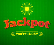 Jackpot logo, game vector illustration Royalty Free Stock Image