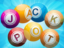 Jackpot lottery bingo balls Royalty Free Stock Photography