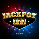 Jackpot 777, lucky triple sevens jackpot casino banner. Illustration Royalty Free Stock Image