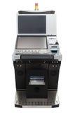 Jackpot machine. Casino slot machine isolated on white background Royalty Free Stock Images