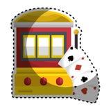 Jackpot machine casino icon. Vector illustration design vector illustration