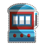 Jackpot machine casino icon. Vector illustration design royalty free illustration