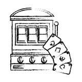 Jackpot machine casino icon. Vector illustration design stock illustration