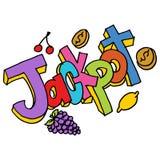 Jackpot message slot machine Stock Images