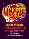 Jackpot night flyer design concept. Jackpot night flyer design, Casino concept stock illustration