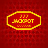 Jackpot one million. Red Card background stock illustration