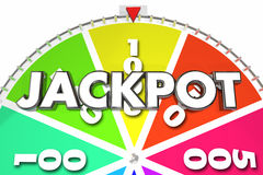 Jackpot Prize Winner Spinning Game Wheel Royalty Free Stock Photos
