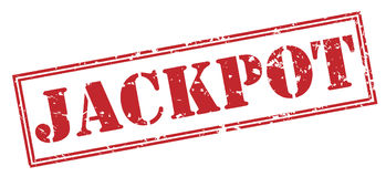 Jackpot stamp on white background. Jackpot red stamp isolated on white background royalty free illustration