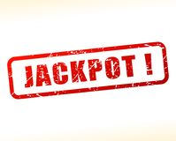 Jackpot red text stamp. Illustration of jackpot red text stamp stock illustration