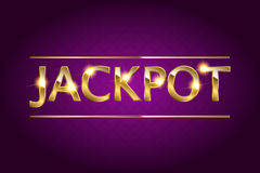 Jackpot retro banner. Jackpot retro banner with glowing lamps. Vector illustration for winners of poker, cards, roulette and lottery vector illustration
