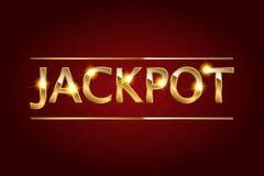 Jackpot retro banner. royalty free illustration