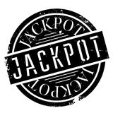 Jackpot rubber stamp. Grunge design with dust scratches. Effects can be easily removed for a clean, crisp look. Color is easily changed royalty free illustration