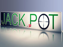 Jackpot Shows Success Or Victory In Winning Stock Photography