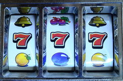 Jackpot on slot machine Royalty Free Stock Photos