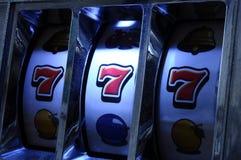 Jackpot on slot machine Stock Photos