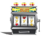 Jackpot slot machine for gambling game. Illustration of a jackpot slot machine for gambling game concept on white background stock illustration