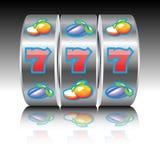 Jackpot on slot machine Royalty Free Stock Photography