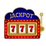 Jackpot on a slot machine vector. Illustration royalty free illustration