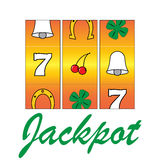 Jackpot slots Royalty Free Stock Photography