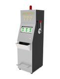Jackpot-Spielautomat im Kasino lokalisiert auf Weiß Lizenzfreie Stockfotos
