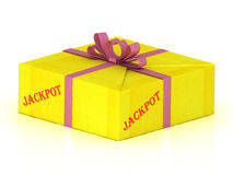 JACKPOT stamp on gift box Stock Photography