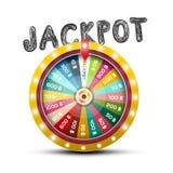 Jackpot Symbol with Wheel of Fortune Design. Jackpot Symbol with Wheel of Fortune Vector Design royalty free illustration