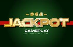 jackpot word text logo banner postcard design typography Stock Image