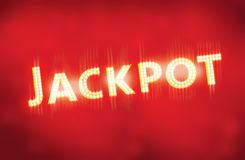 Jackpot vegas lightbulbs text Royalty Free Stock Photos