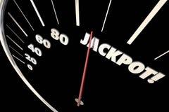 Jackpot Winnings Money Prize Speedometer Words. 3d Illustration vector illustration