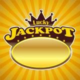 Jackpot-Zeichen Stockbild