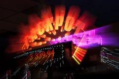 Jackpottvinnaretecken från kasino Arkivfoton