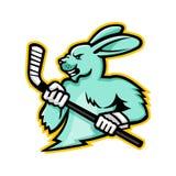 Jackrabbit-Eis-Hockey-Spieler-Maskottchen Lizenzfreie Stockbilder