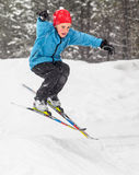 Jackrabbits ski program royalty free stock images
