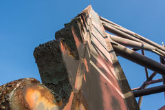 Jacks Ölplattformbein oben wenn herauf für Anlagenbewegung Lizenzfreies Stockfoto