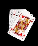 Jacks. Four of a kind -jacks ,isolated on black background Royalty Free Stock Photography