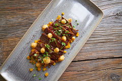 Jacks beef with corn USA recipe Stock Images