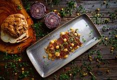 Jacks beef with corn USA recipe Royalty Free Stock Photography