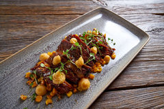 Jacks beef with corn USA recipe Royalty Free Stock Images