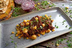 Jacks beef with corn USA recipe Stock Image