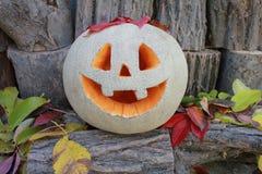 ` Jacks O Laternenkürbis für den Halloween-Hintergrund Stockfoto