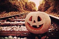 ` Jacks O Laternenkürbis für den Halloween-Hintergrund Lizenzfreie Stockbilder