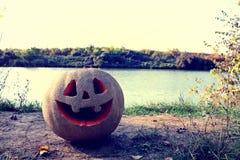 ` Jacks O Laternenkürbis für den Halloween-Hintergrund Lizenzfreie Stockfotografie