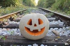 ` Jacks O Laternenkürbis für den Halloween-Hintergrund Stockfotos