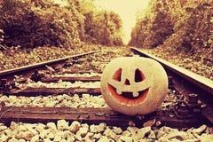 ` Jacks O Laternenkürbis für den Halloween-Hintergrund Stockbild