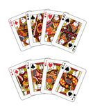 Jacks and queens poker. Jacks and queens double poker illustration Royalty Free Stock Photography